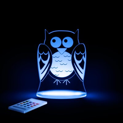 Aloka Starlights LED Owl Night Light with Remote Control