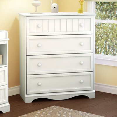 Andover 4 Drawer Chest Color: Pure White