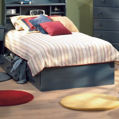 Barra Mates Bed with Storage Size: Full, Color: Blueberry