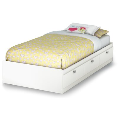 Sparkling Mates Bed with Storage Size: Twin