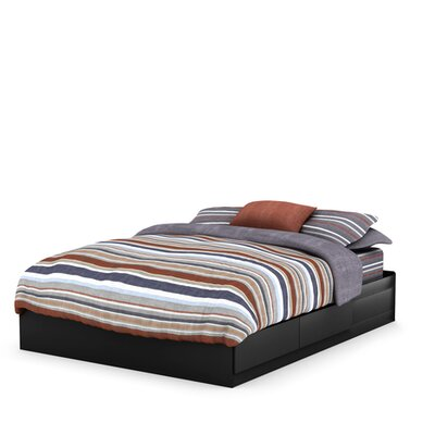Vito Storage Platform Bed Finish: Pure Black