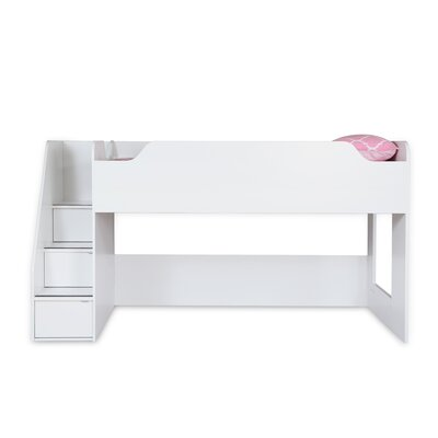 Mobby Twin Loft Bed Color: White