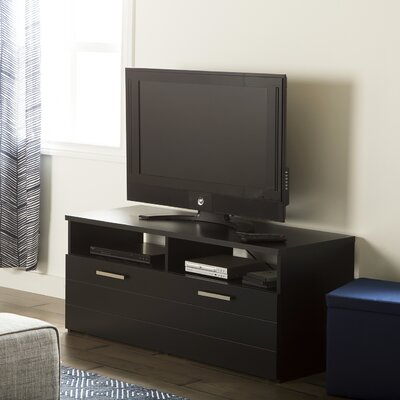 Jambory TV Stand with Enclosed Storage Finish: Pure Black