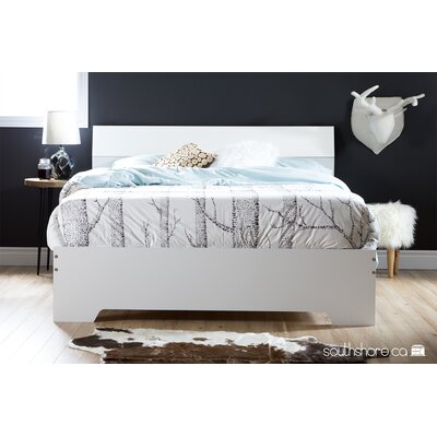 Fusion Queen Platform Bed Finish: White