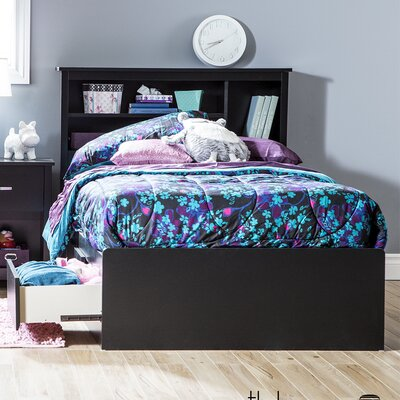 Fusion Twin Mates Bed with Storage Finish: Black