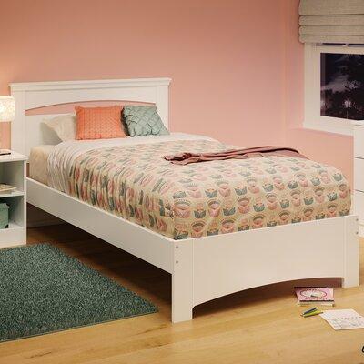 Libra Twin Panel Bed Finish: Pure White