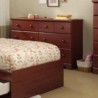 Provincetown 6 Drawer Double Dresser Color: Royal Cherry