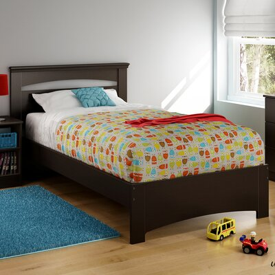 Libra Twin Panel Bed Color: Chocolate