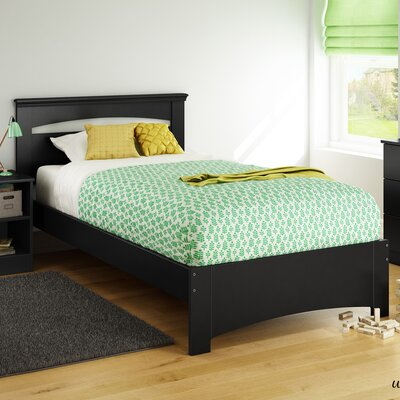 Libra Twin Panel Bed Color: Pure Black