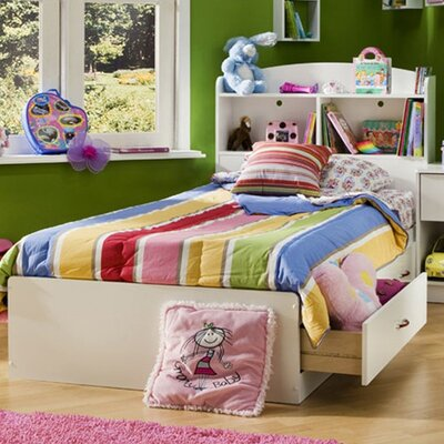 Logik Twin Mates Bed with Storage Finish: Pure White