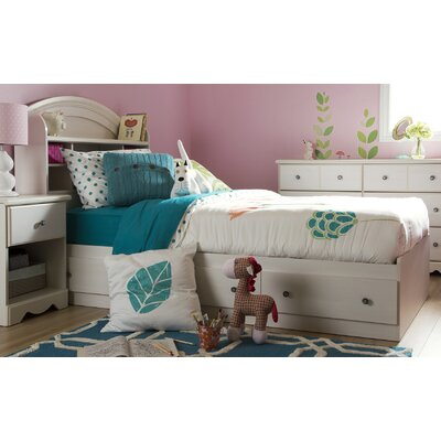Country Poetry Mates Bed with Storage Size: Twin