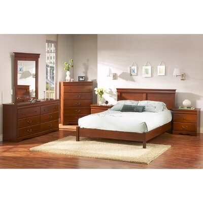 Vintage Queen Platform Customizable Bedroom Set