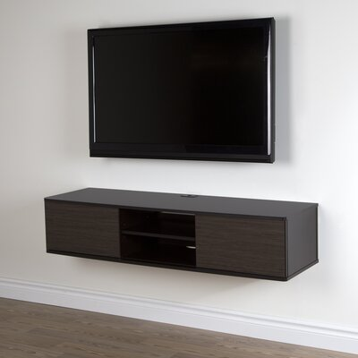Agora 56 TV Stand Color: Chocolate and Zebrano