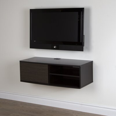 Agora 38 TV Stand Color: Chocolate and Zebrano