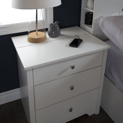Vito Nightstand Color: Pure White