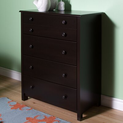 Little Smileys 4 Drawer Chest Color: Espresso