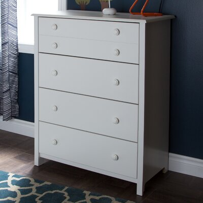 Little Smileys 4 Drawer Chest Color: Pure White