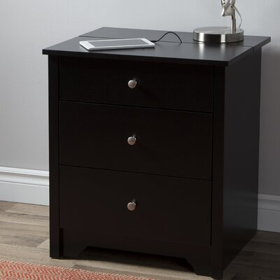 Vito Nightstand Color: Pure Black