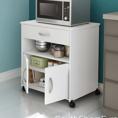 Fiesta Microwave Cart Base Finish: Pure White