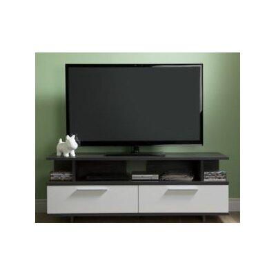 Reflekt TV Stand Finish: Gray Oak/Pure White