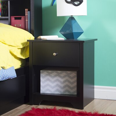 Vito 1 Drawer Nightstand Color: Chocolate