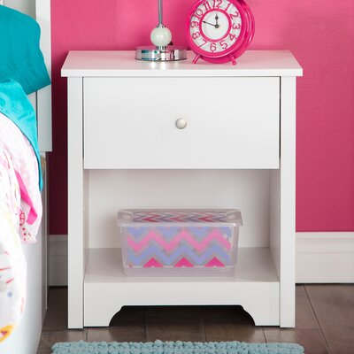 Vito 1 Drawer Nightstand Color: Pure White