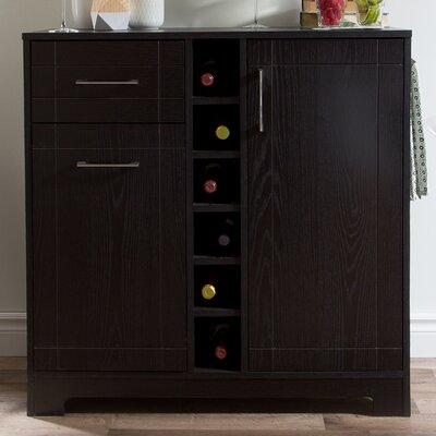 Vietti Bar Cabinet Color: Black Oak