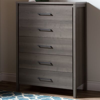 Gravity 5 Drawer Chest Color: Gray Maple