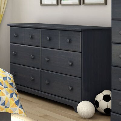 Provincetown 6 Drawer Double Dresser Color: Blueberry