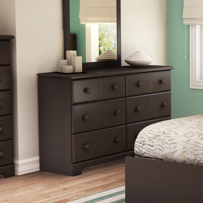 Provincetown 6 Drawer Double Dresser Color: Chocolate