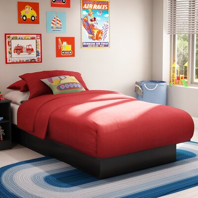 Libra Twin Platform Bed Color: Pure Black
