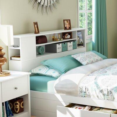 Vito Bookcase Headboard Finish: Pure White