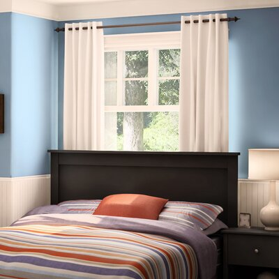 Vito Full/Queen Panel Headboard Color: Pure Black