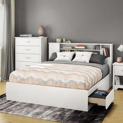 Fusion Queen Storage Platform Bed Finish: Pure White