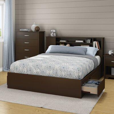 Fusion Queen Storage Platform Bed Color: Chocolate