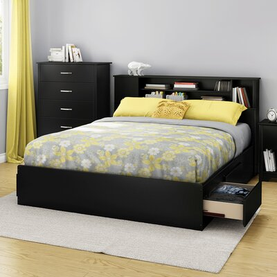 Fusion Queen Storage Platform Bed Finish: Pure Black