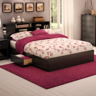 Vito Storage Platform Bed Color: Pure Black