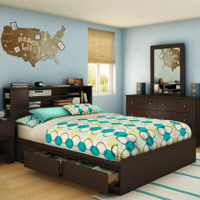 Vito Storage Platform Bed Color: Chocolate
