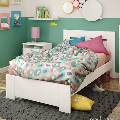 Reevo Twin Platform Bed Color: White