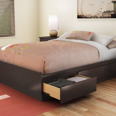 Step One Full/Double Storage Platform Bed Color: Chocolate