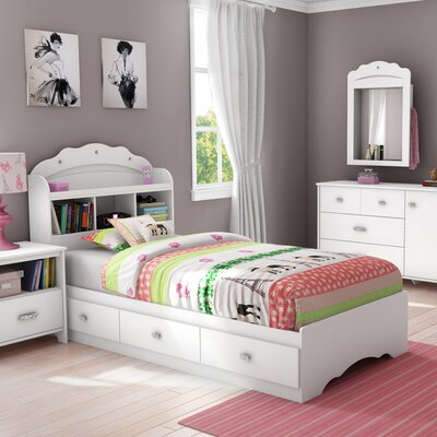 Tiara Twin Mates Bed with Storage and Headboard