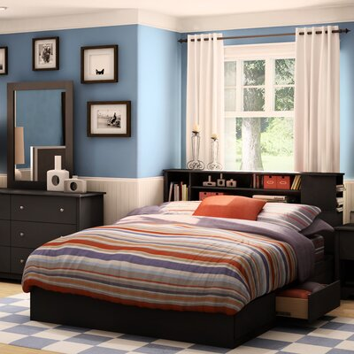 Vito Queen Storage Platform Bed Finish: Pure Black