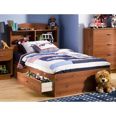 Cheap Logik Twin Mates Bed Box Finish: Sunny Pine (TH2179_7182338)