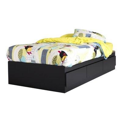 Fusion Vito Twin Mates Bed with Storage Finish: Black