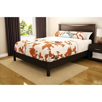 Step One Platform Bed Color: Chocolate, Size: Queen