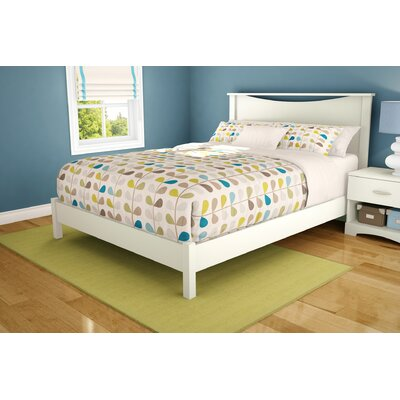 Step One Platform Bed Color: Pure White, Size: Twin