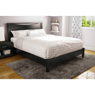 Step One Platform Bed Color: Pure Black, Size: Queen