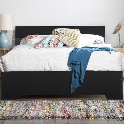 Fusion Queen Platform Bed Finish: Black