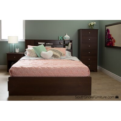 Vito Queen Mates Bed with Storage Finish: Suptuous Cherry