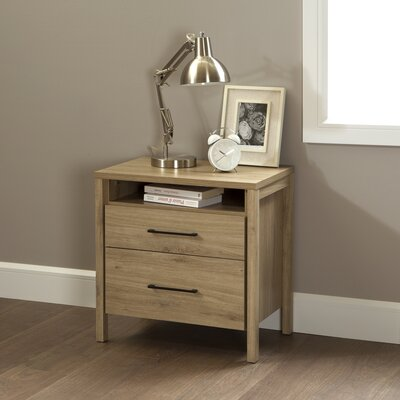 Gravity 2 Drawer Nightstand Finish: Rustic Oak